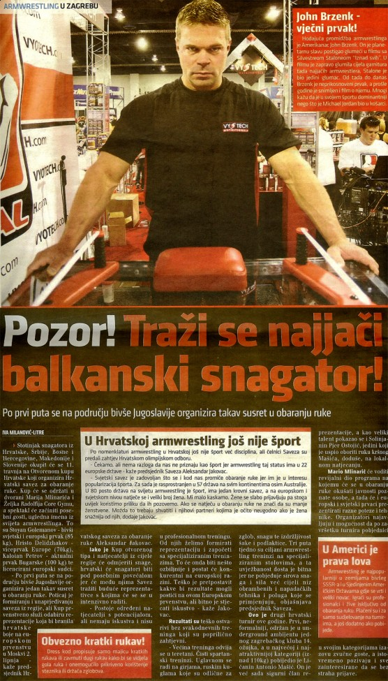 Sport plus - Search for the Balkan strongman!